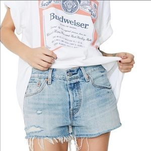 NWT Levi's 501 shorts size 24 distressed ripped